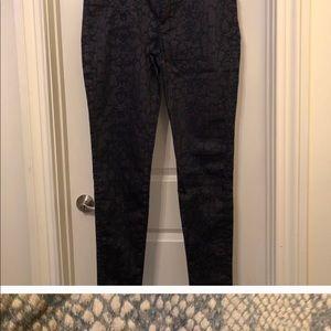 CJ by Cookie Johnson Purple & Navy Legging Jeans